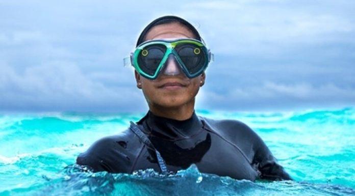 Imagem de: Agora, há uma versão no Snapchat Spectacles para quem curte mergulhar