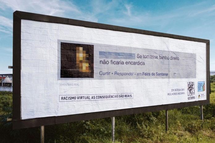 Imagem de: Campanha põe posts racistas em outdoors perto da casa dos autores [vídeo]