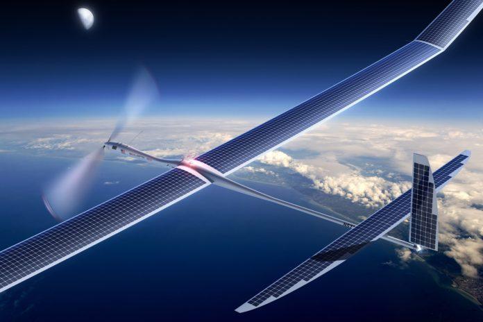 Imagem de: Google quer usar drones solares para trazer internet 5G