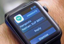 Imagem de: Hangouts: app agora tem suporte a respostas pelo Apple Watch