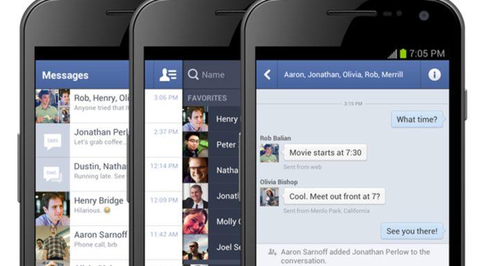 Imagem de: Facebook pode forçar usuários mobile a usar o app do Messenger