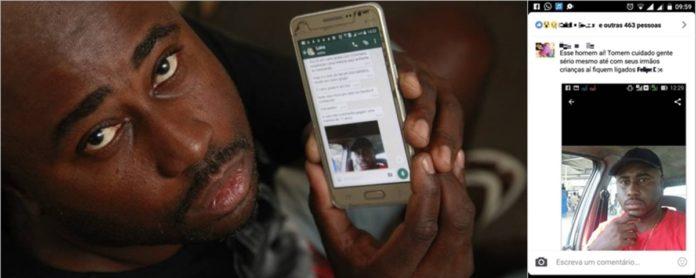 Imagem de: Boato na internet faz serralheiro ser ameaçado e ter medo de sair de casa
