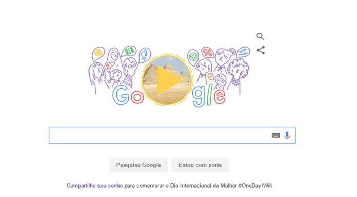 Imagem de: Doodle do Google faz homenagem ao Dia Internacional da Mulher