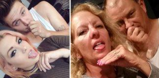 Imagem de: Pais imitam fotos de filha com namorado e viram sensação na internet