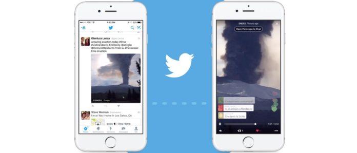 Imagem de: Twitter passa a exibir stream do Periscope diretamente na timeline
