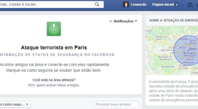Imagem de: Facebook e Twitter tentam ajudar parentes e vítimas de atentados em Paris