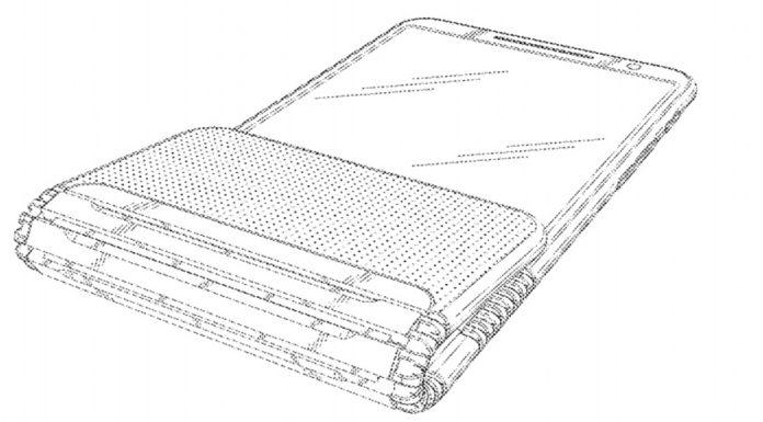Imagem de: Lenovo registra patente de celular flip dobrável em dois pontos