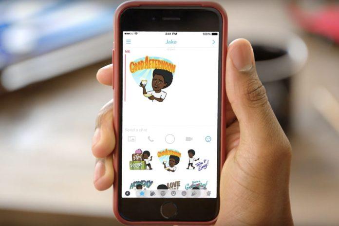 Imagem de: Nova cara da diversão: agora você pode usar emojis do Bitmoji no Snapchat