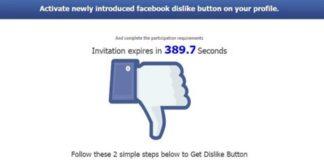 """Imagem de: Já existe um golpe na internet com o botão """"Não Curti"""" do Facebook"""
