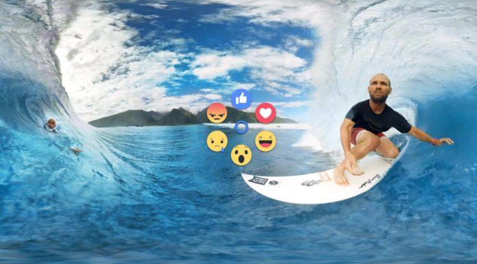 Imagem de: Agora você pode reagir a vídeos em 360 graus do Facebook diretamente da VR