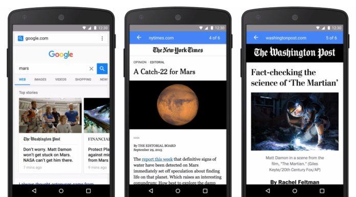 Imagem de: Google vai passar a priorizar páginas que usam o sistema AMP