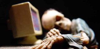 Imagem de: O que acontece quando você junta crianças e internet discada?