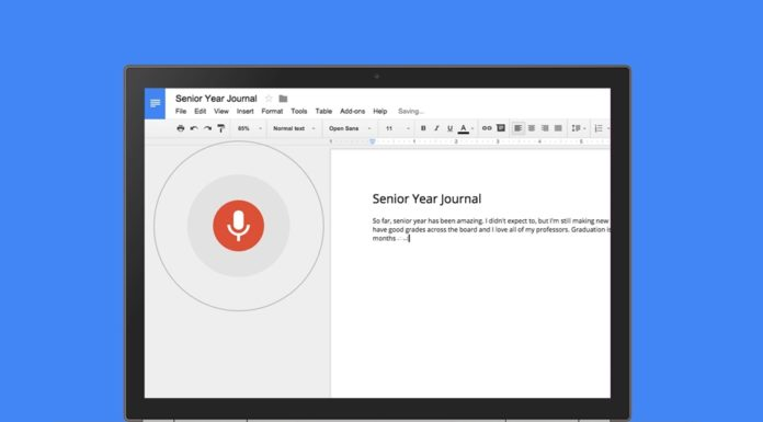 Imagem de: Google Docs permite edição e formatação de textos em inglês usando só a voz