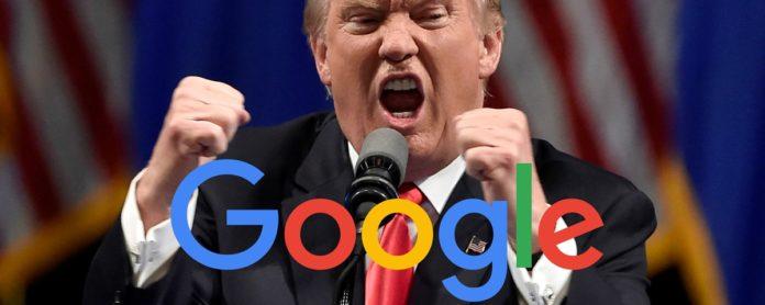 Imagem de: Trump diz que Google manipula buscas a favor de Hillary Clinton