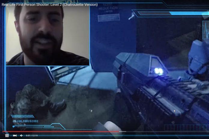 Imagem de: Internautas desavisados entram em incrível FPS da vida real [vídeo]