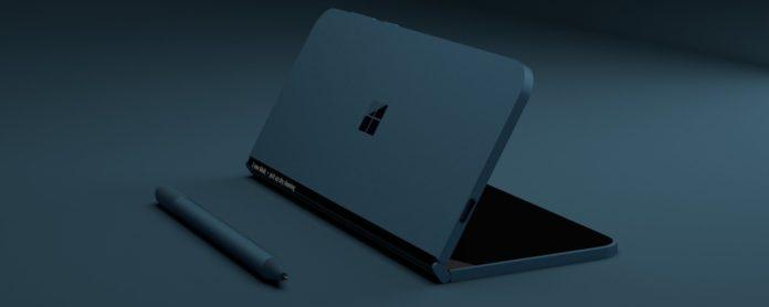 Imagem de: Possível Surface Phone poderia ser dobrável em 360°, indica patente