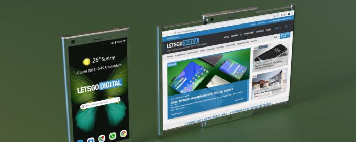 Imagem de: Nova patente da Samsung mostra dispositivo com tela retrátil