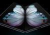 Imagem de: Galaxy Fold reformulado é fotografado em local público