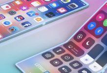 Imagem de: Apple tem patente para smartphone que dobra para os dois lados