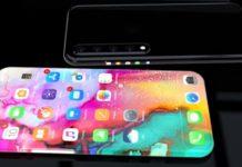 Imagem de: Designer imagina iPhone de 2019 como aparelho de tela única; confira