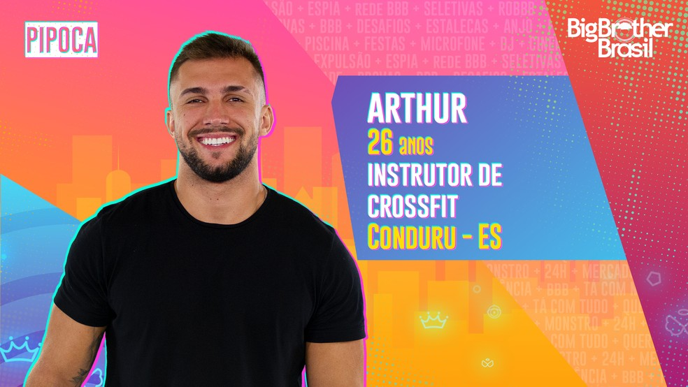 Arthur é participante do BBB21 — Foto Globo