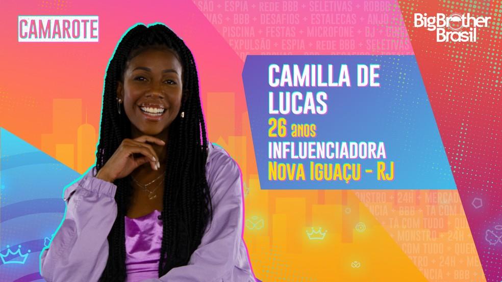 Camilla de Lucas, BBB21 — Foto- Globo