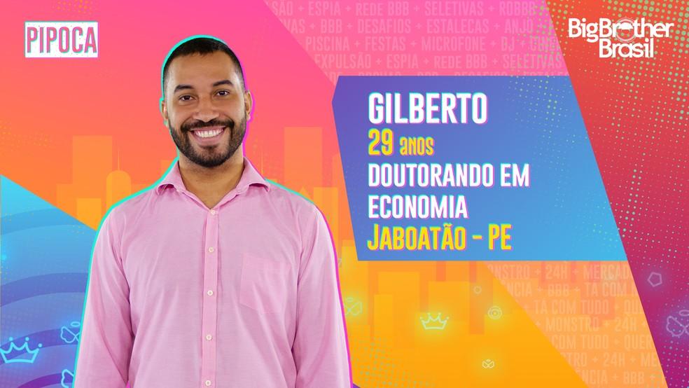 Gilberto, BBB21 — Foto- Globo