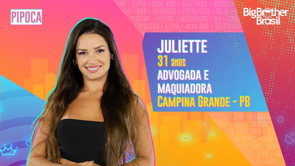 Juliette, BBB21 — Foto- Globo