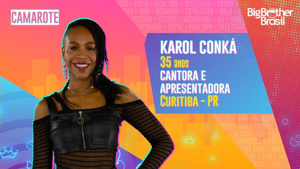 Karol Conka, BBB21 — Foto- Globo