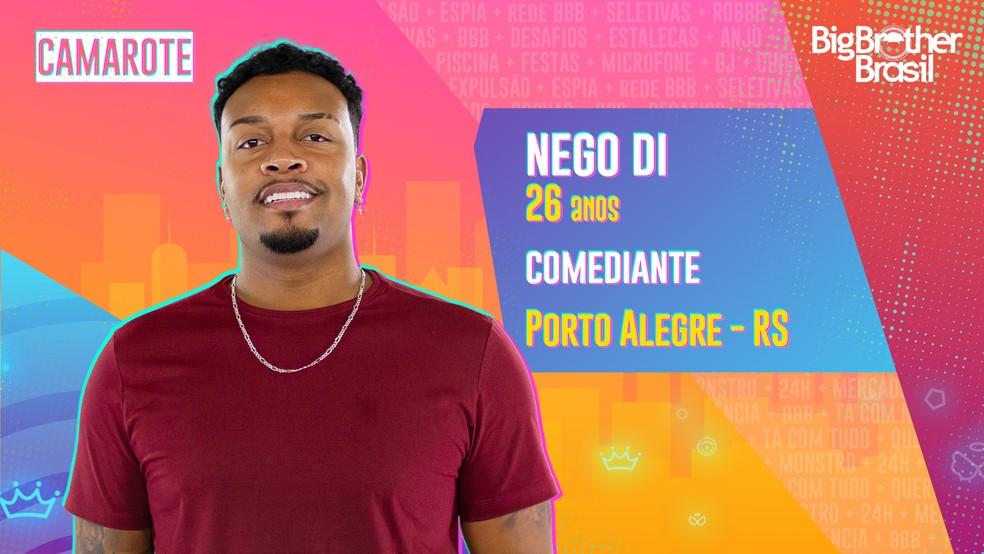 Nego Di, BBB21 — Foto- Globo