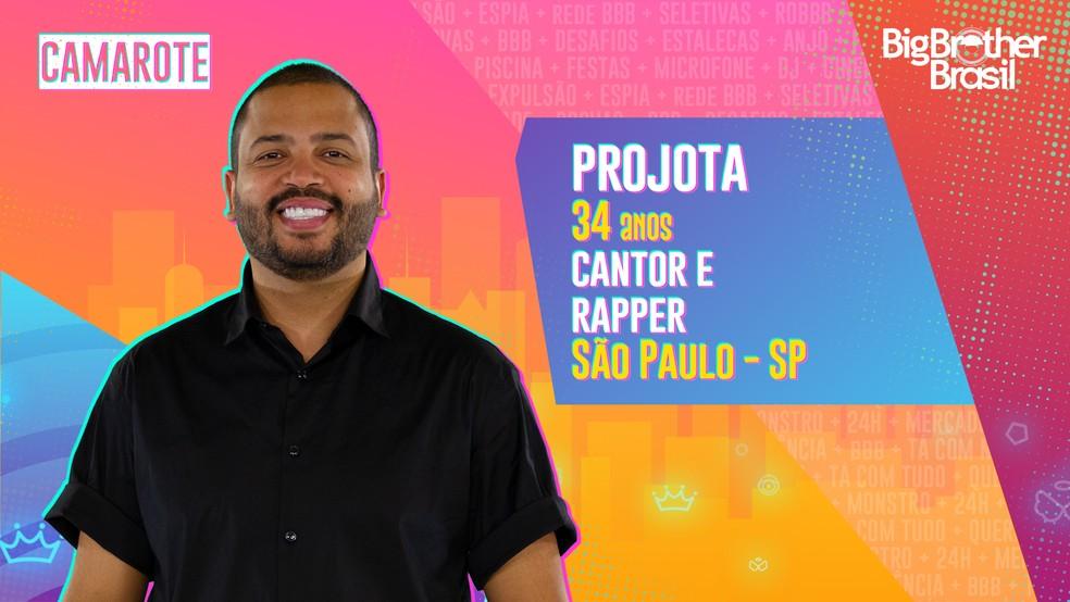 Projota, BBB21 — Foto- Globo