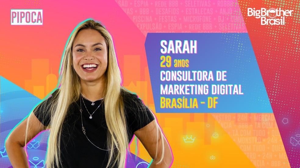 Sarah, BBB21 — Foto- Globo