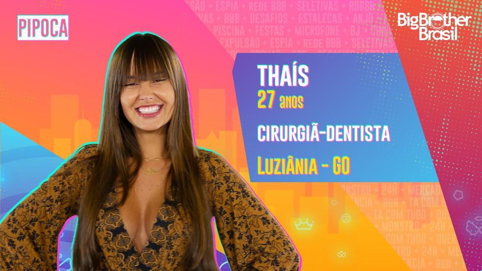 Thaís, BBB21 — Foto- Globo